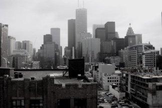 Blick aus dem Zimmer in Toronto